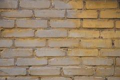 Κίτρινος τοίχος τούβλων Στοκ Εικόνα