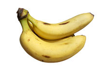 Κίτρινος φρούτων μπανανών που απομονώνεται Στοκ Εικόνα