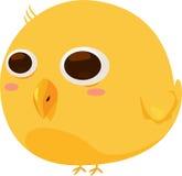 Κίτρινος χαρακτήρας κινουμένων σχεδίων πουλιών Στοκ Εικόνες