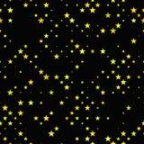 Κίτρινο άνευ ραφής υπόβαθρο σχεδίων αστεριών pentagram Στοκ φωτογραφίες με δικαίωμα ελεύθερης χρήσης