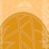 Κίτρινο έμβλημα αυγών υποβάθρου Πάσχας Στοκ Εικόνες