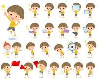 Κίτρινο αγόρι 2 Bobbed ενδυμάτων Στοκ Εικόνες