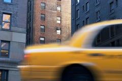 Κίτρινο αμάξι στη Νέα Υόρκη Στοκ Εικόνες