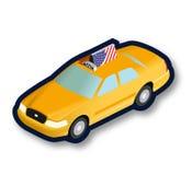 Κίτρινο αμάξι ταξί isometric Στοκ εικόνα με δικαίωμα ελεύθερης χρήσης