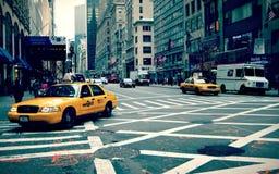 Κίτρινο αμάξι της Νέας Υόρκης Στοκ φωτογραφία με δικαίωμα ελεύθερης χρήσης