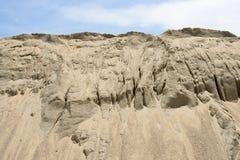 Κίτρινο ανάχωμα άμμου αμμοχάλικου Στοκ φωτογραφία με δικαίωμα ελεύθερης χρήσης