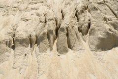Κίτρινο ανάχωμα άμμου αμμοχάλικου Στοκ Φωτογραφία