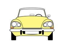 Κίτρινο αυτοκίνητο Στοκ εικόνα με δικαίωμα ελεύθερης χρήσης