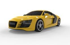 Κίτρινο αυτοκίνητο Στοκ Φωτογραφίες
