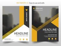 Κίτρινο αφηρημένο διάνυσμα προτύπων σχεδίου φυλλάδιων ετήσια εκθέσεων τριγώνων Infographic αφίσα περιοδικών επιχειρησιακών ιπτάμε διανυσματική απεικόνιση