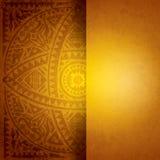 Κίτρινο αφρικανικό σχέδιο υποβάθρου. Στοκ Φωτογραφίες