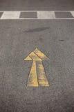 Κίτρινο βέλος Στοκ Φωτογραφίες