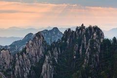 Κίτρινο βουνό βουνών Huangshan σε Anhui, Κίνα Στοκ φωτογραφία με δικαίωμα ελεύθερης χρήσης