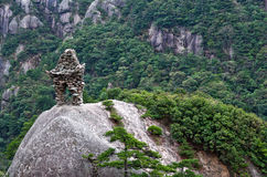 Κίτρινο βουνό βουνών Huangshan σε Anhui, Κίνα Στοκ εικόνα με δικαίωμα ελεύθερης χρήσης
