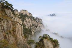 Κίτρινο βουνό - Huangshan, Κίνα Στοκ Εικόνες