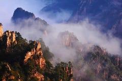 Κίτρινο) βουνό Huangshan ( Στοκ φωτογραφίες με δικαίωμα ελεύθερης χρήσης