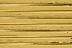 Κίτρινο βρώμικο ξύλινο σχέδιο τοίχων Στοκ Φωτογραφία