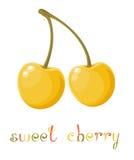 Κίτρινο γλυκό κεράσι Στοκ Εικόνα