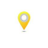 Κίτρινο εικονίδιο δεικτών χαρτών απεικόνιση αποθεμάτων