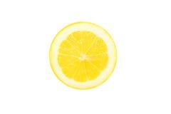 Κίτρινο λεμόνι σε μια περικοπή Στοκ Φωτογραφίες