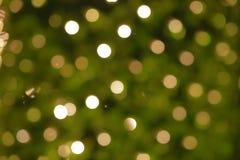 Κίτρινο εορταστικό bokeh διακοπών αφηρημένα Χριστούγεννα ανασκόπησης Στοκ Εικόνα