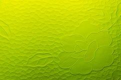 Κίτρινο επίγειο γυαλί Στοκ Εικόνες