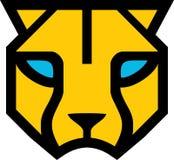 Κίτρινο επικεφαλής λογότυπο πάνθηρων ελεύθερη απεικόνιση δικαιώματος