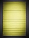 Κίτρινο ευθυγραμμισμένο σημειωματάριο Στοκ φωτογραφίες με δικαίωμα ελεύθερης χρήσης