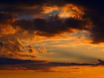 Κίτρινο ηλιοβασίλεμα ουρανού Στοκ Εικόνες
