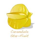 Κίτρινο διάνυσμα carambola φρούτων Στοκ εικόνα με δικαίωμα ελεύθερης χρήσης