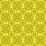 Κίτρινο διακοσμητικό άνευ ραφής σχέδιο γραμμών Στοκ Φωτογραφία
