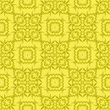 Κίτρινο διακοσμητικό άνευ ραφής σχέδιο γραμμών Στοκ φωτογραφίες με δικαίωμα ελεύθερης χρήσης