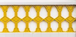 Κίτρινο δικτυωτό πλέγμα Decorativ στοκ φωτογραφία
