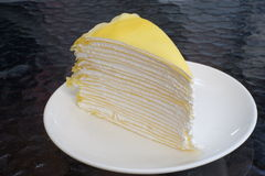 Κίτρινο κέικ στοκ εικόνα