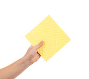 Κίτρινο καθαρίζοντας σφουγγάρι Στοκ φωτογραφίες με δικαίωμα ελεύθερης χρήσης