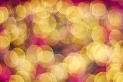 Κίτρινο και κόκκινο χρώμα bokeh Στοκ εικόνες με δικαίωμα ελεύθερης χρήσης