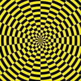 Κίτρινο και μαύρο ακτινωτό υπόβαθρο Στοκ Εικόνα