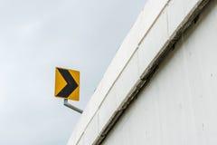 Κίτρινο και μαύρο σημάδι Στοκ Εικόνες