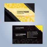 Κίτρινο και μαύρο σύγχρονο πρότυπο επαγγελματικών καρτών Στοκ φωτογραφίες με δικαίωμα ελεύθερης χρήσης