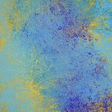 Κίτρινο και μπλε spatter χρωμάτων και grunge onlight μπλε υπόβαθρο με την εκλεκτής ποιότητας σύσταση διανυσματική απεικόνιση