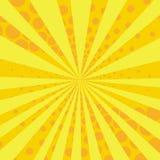Κίτρινο και πορτοκαλί αναδρομικό κωμικό υπόβαθρο ύφους Στοκ Φωτογραφίες