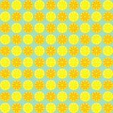 Κίτρινο και πορτοκαλί άνευ ραφής σχέδιο φετών λεμονιών Διανυσματική απεικόνιση των λεμονιών γεωμετρικός παλαιός τρύγος εγγράφου δ Στοκ εικόνα με δικαίωμα ελεύθερης χρήσης