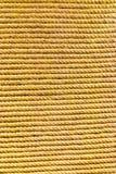 Κίτρινο καφετί σχοινί λινού Στοκ Φωτογραφίες