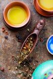 Κίτρινο κινεζικό τσάι Στοκ Εικόνα
