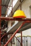 Κίτρινο κράνος Στοκ εικόνες με δικαίωμα ελεύθερης χρήσης