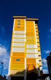 Κίτρινο κτήριο HDB Στοκ Εικόνα