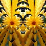 Κίτρινο λουλούδι δύο καρδιών στοκ εικόνα με δικαίωμα ελεύθερης χρήσης