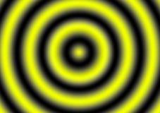 Κίτρινο μαύρο επίκεντρο υποβάθρου στροβίλου υπνωτιστικό Στοκ Εικόνες