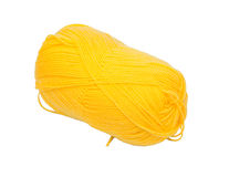Κίτρινο μαλλί κουβαριών Στοκ Εικόνα