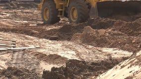 Κίτρινο μεγάλο έδαφος επιπέδων φορτωτών κατασκευής για την κατασκευή και τον προγραμματισμό, βιομηχανικούς απόθεμα βίντεο